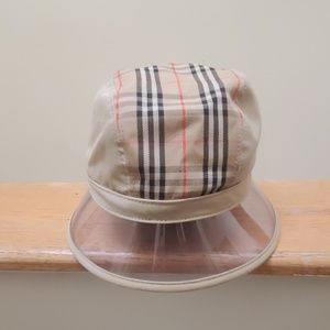 Unisex 1983 vintage check Burberry bucket hat